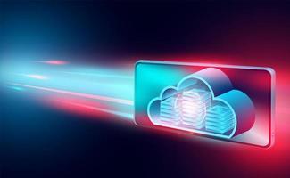 banner de conceito de tecnologia em nuvem vetor