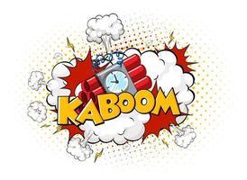 balão de fala em quadrinhos com texto kaboom vetor