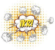 balão de fala em quadrinhos com texto ikr vetor