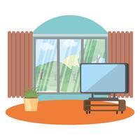 desenho vetorial de dispositivo de tv isolado vetor