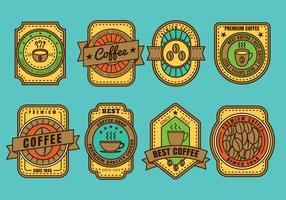 Vector do emblema do café