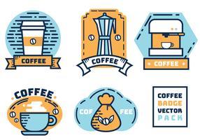 Pacote Vector do emblema do café