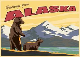 Postal do Alasca vetor