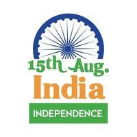 celebração do dia da independência da Índia com estilo simples de chakra ashoka vetor