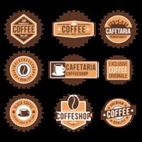 Emblema de café vetor