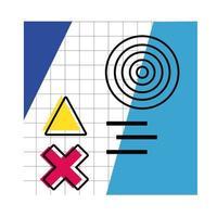 pôster abstrato com cores e figuras geométricas vetor