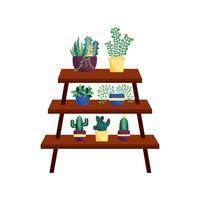 plantas e desenho vetorial de móveis