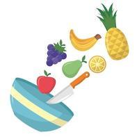 desenho vetorial de frutas isoladas vetor