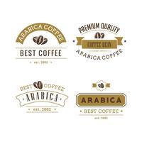 Conjunto de vetores de emblemas de café