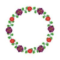 flores isoladas desenho redondo