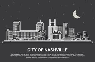Paisagem de Nashville vetor