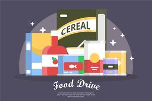 Ilustração de condução de comida vetor