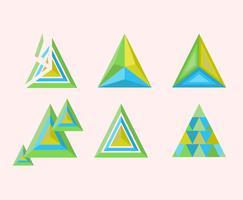 vetor de formas de prisma