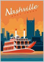 Nashville passeios de barco vetor