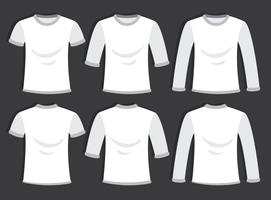 Vetor branco em branco do modelo de t-shirt