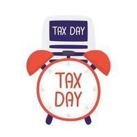 documento de dia do imposto com desenho vetorial de relógio vetor