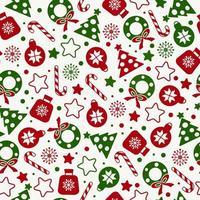 padrão sem emenda de ícones de textura de natal vetor
