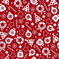 padrão de Natal vermelho. vetor
