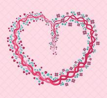 Coração floral rosa em forma de tons femininos e femininos. pode ser usado para festas de formatura, casamentos, casamentos, moda, convites, pôsteres, flayers, eventos femininos, gravuras, poser, cartões comemorativos vetor