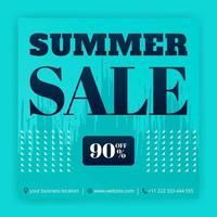 promoções de anúncios de mídia social de liquidação de verão. cartazes de negócios com ofertas de desconto. pode ser usado para mídia online, folheto, folheto, anúncio de parede, pôster, promoção de mídia de site, outdoor, anúncios de aplicativos vetor