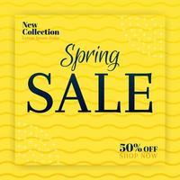 vendas de primavera para a nova coleção de moda. promoções de anúncios em banners e mídias sociais. pode ser usado para mídia online, folheto, folheto, anúncio de parede, pôster, promoção de mídia de site, outdoor, anúncios de aplicativos vetor