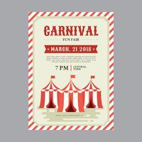 Modelo de Cartaz de carnaval vetor