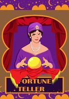 Mulher, caixa fortuna vetor