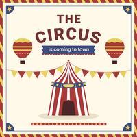 Cartaz festivo do carnaval do circo vetor