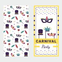 Vector de poster de carnaval de máscara