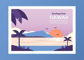 Cartão Do Vetor Do Havai