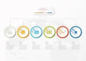 infográficos padrão de negócios
