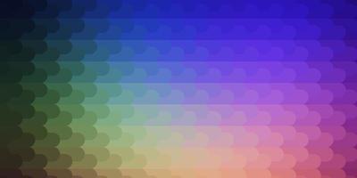 luz de fundo multicolor vector com linhas.