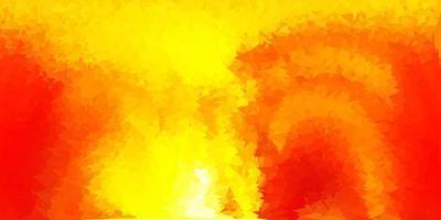 layout de polígono gradiente de vetor laranja claro.