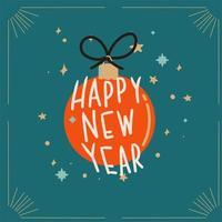 cartão de felicitações de feliz ano novo vetor