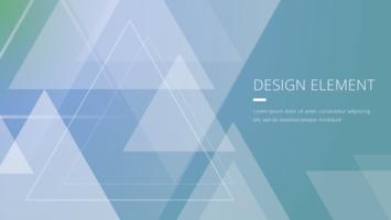 Modelo de banner corporativo abstrato do prisma vetor