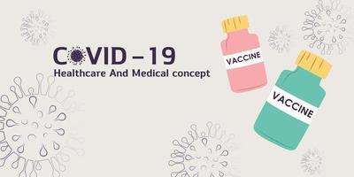 coronavírus, conceito de vacina covid-19 vetor