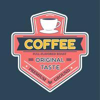 Logotipo do logotipo do café Vector