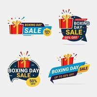 boxing day sale banner desconto oferta especial tag set