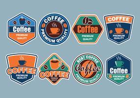 Coleção de crachás de café vetor