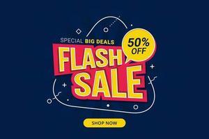 banner de oferta especial com desconto em venda flash vetor