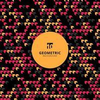 padrão geométrico abstrato chevron diagonal cor-de-rosa, preto, amarelo.
