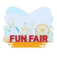 circo de carnaval com barraca, carrosséis, parque de diversões para feira de diversões vetor
