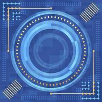 conceito de tecnologia abstrato azul e dourado vetor