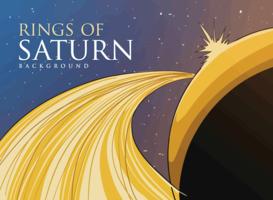 Anéis de Saturno vetor