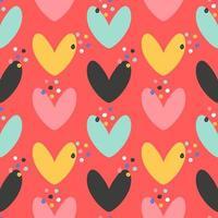 padrão de corações coloridos vetor