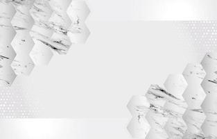 hexágonos brancos de fundo de mármore vetor