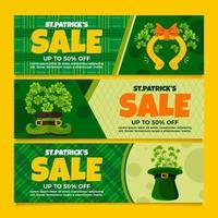 venda exclusiva durante saint patrick vetor