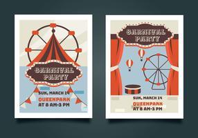 pacote de vetores de cartaz de carnaval