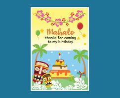 Vetor de aniversário de Mahalo