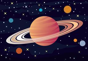 Ilustração de Anéis de Saturno vetor